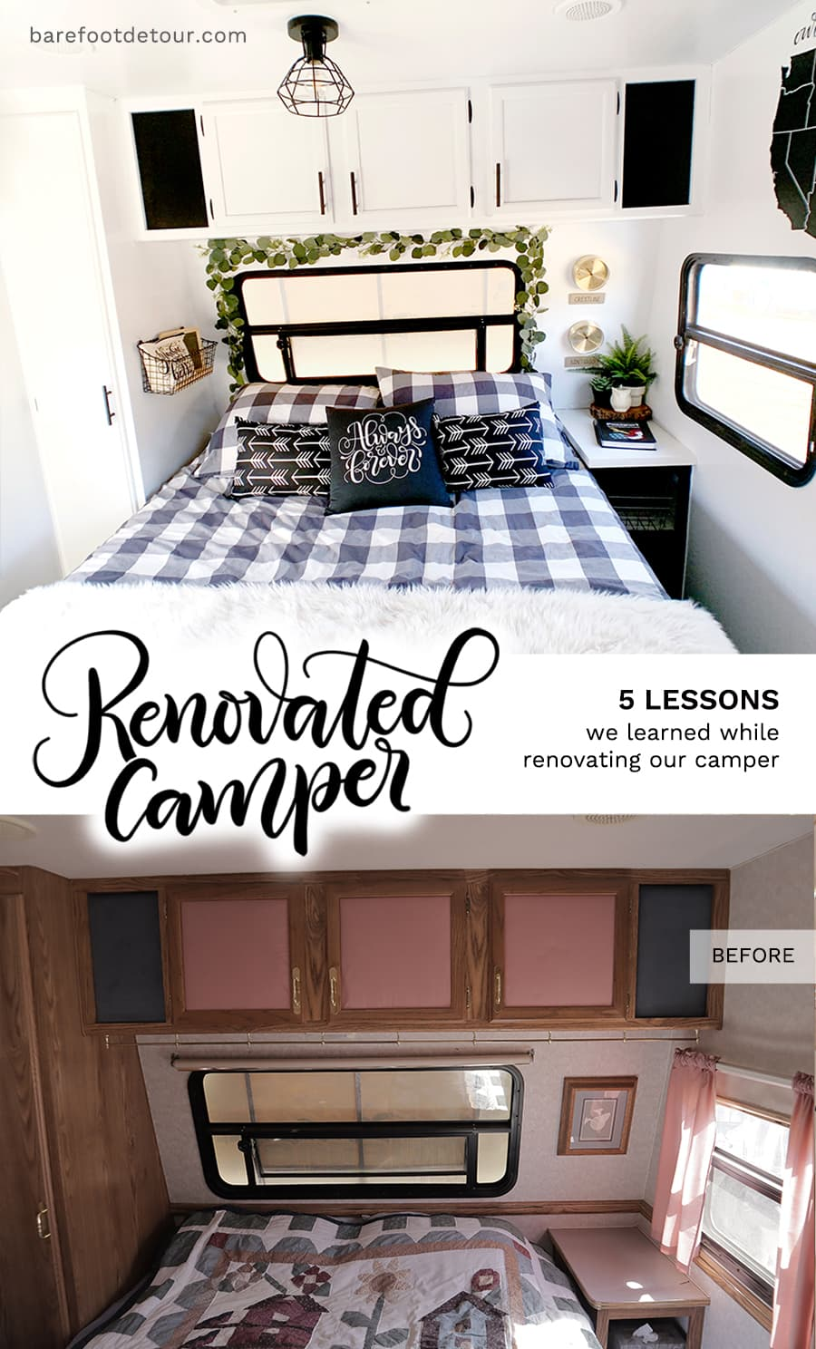 RV bedroom trasformation