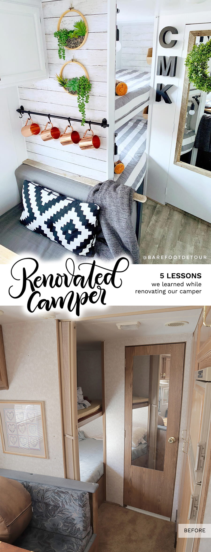 5 Lessons We Learned While Renovating Our Camper Rv Reno Barefoot Detour