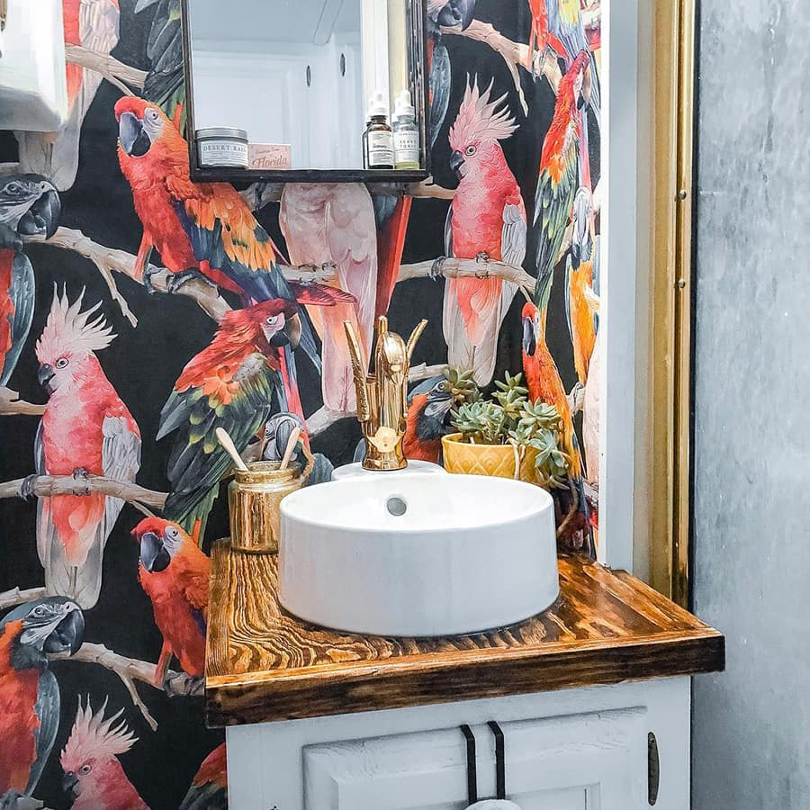 Check out this show stopper bathroom by the Rambling RV