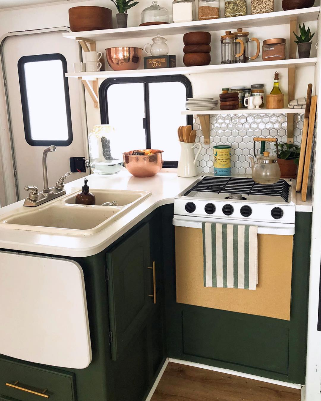 Check out this beautiful RV kitchen transformation!