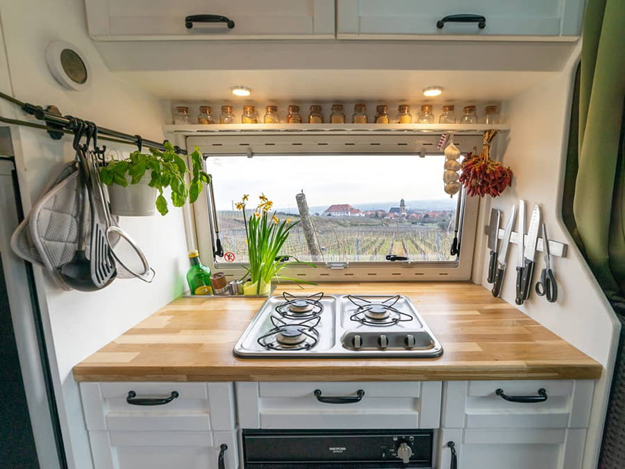 camper van kitchen