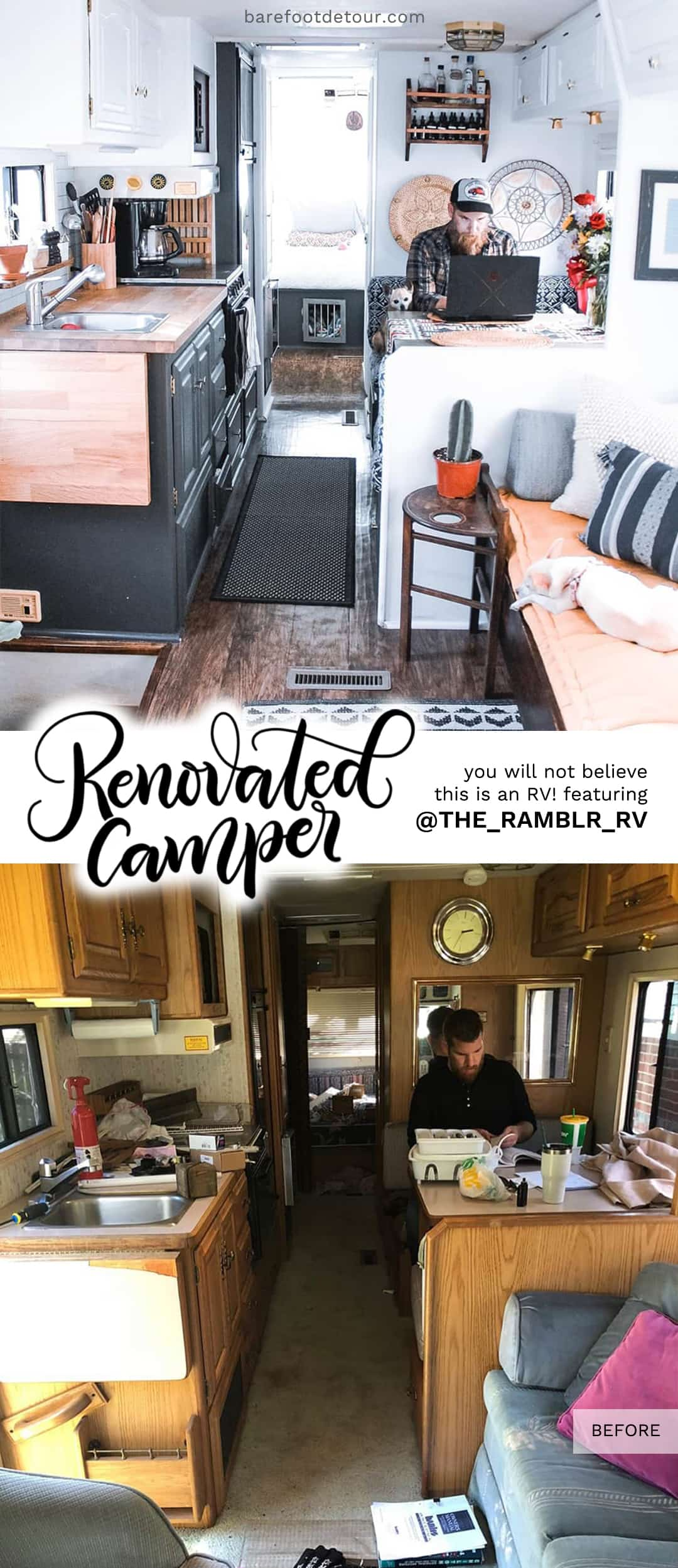 rv remodel - before and after