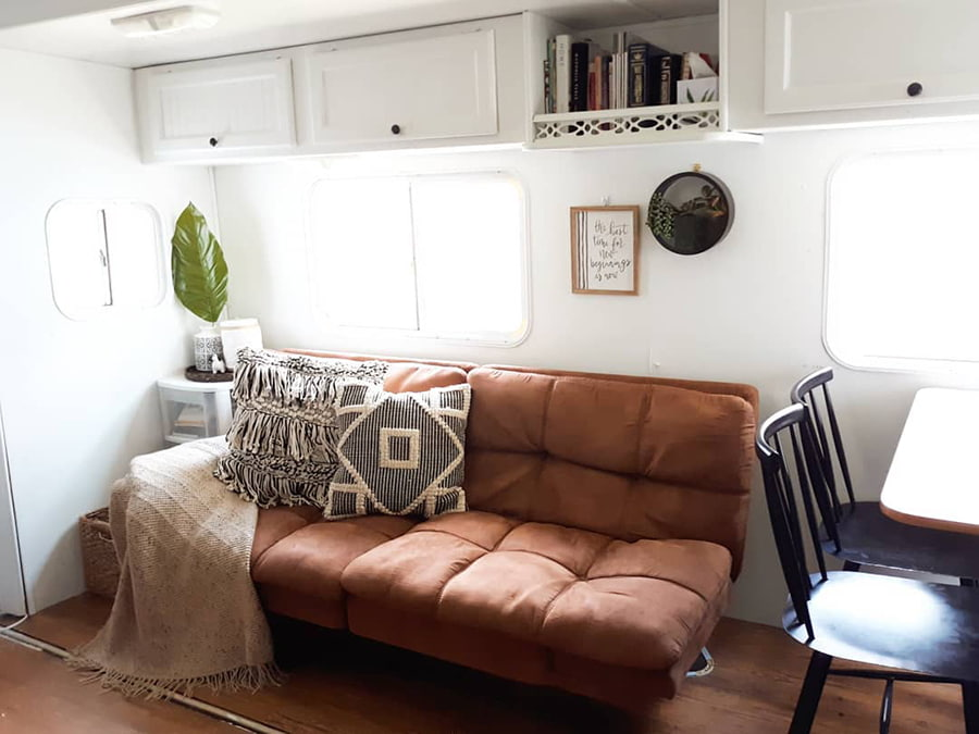 rv brown sofa bed