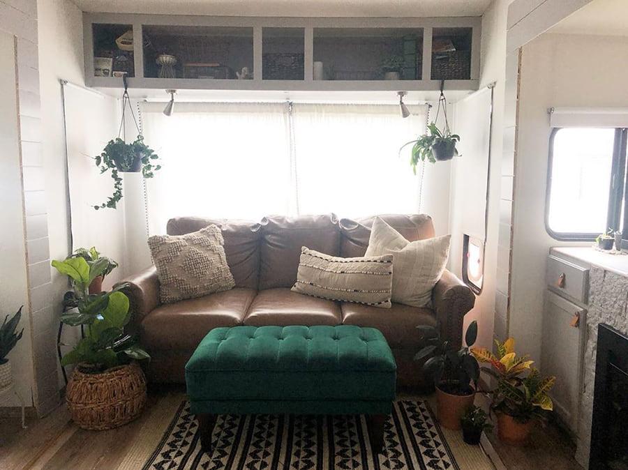 rv sofa bed green