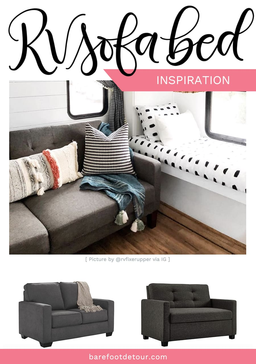 grey sofa bed for rv
