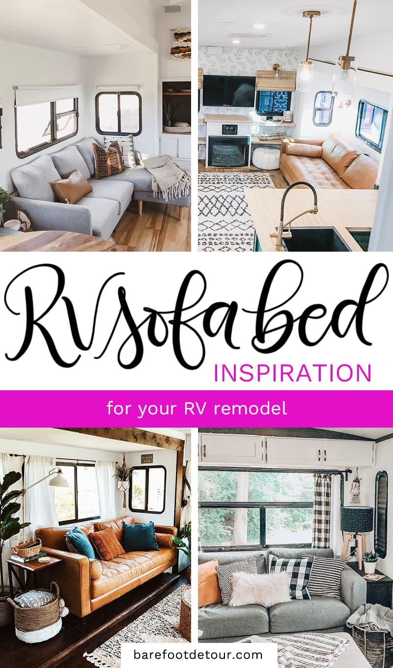 Rv Sofa Bed Upgrade Ideas For Your Camper Remodel Barefoot Detour