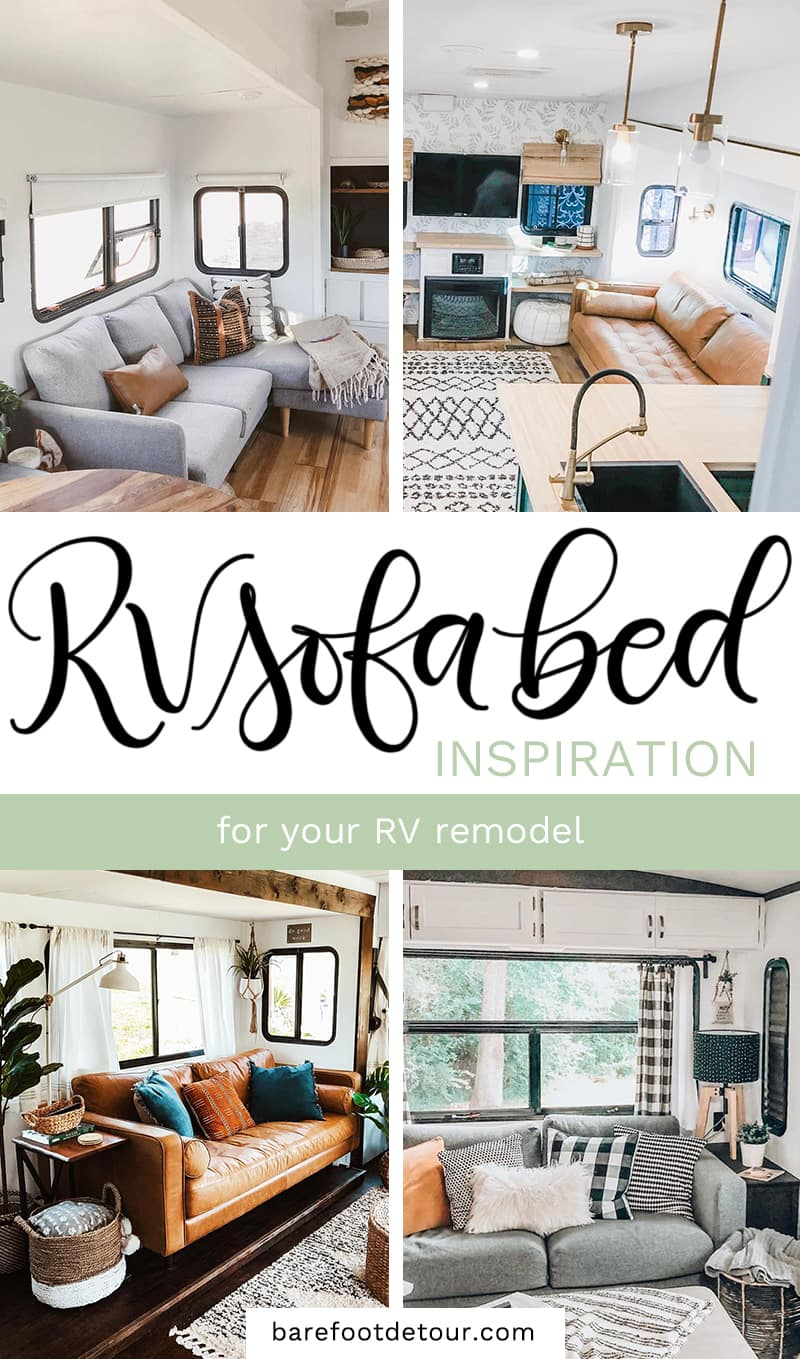 Rv Sofa Bed Upgrade Ideas For Your Camper Remodel Barefoot Detour