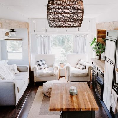 RV sofa bed upgrade ideas for your camper remodel