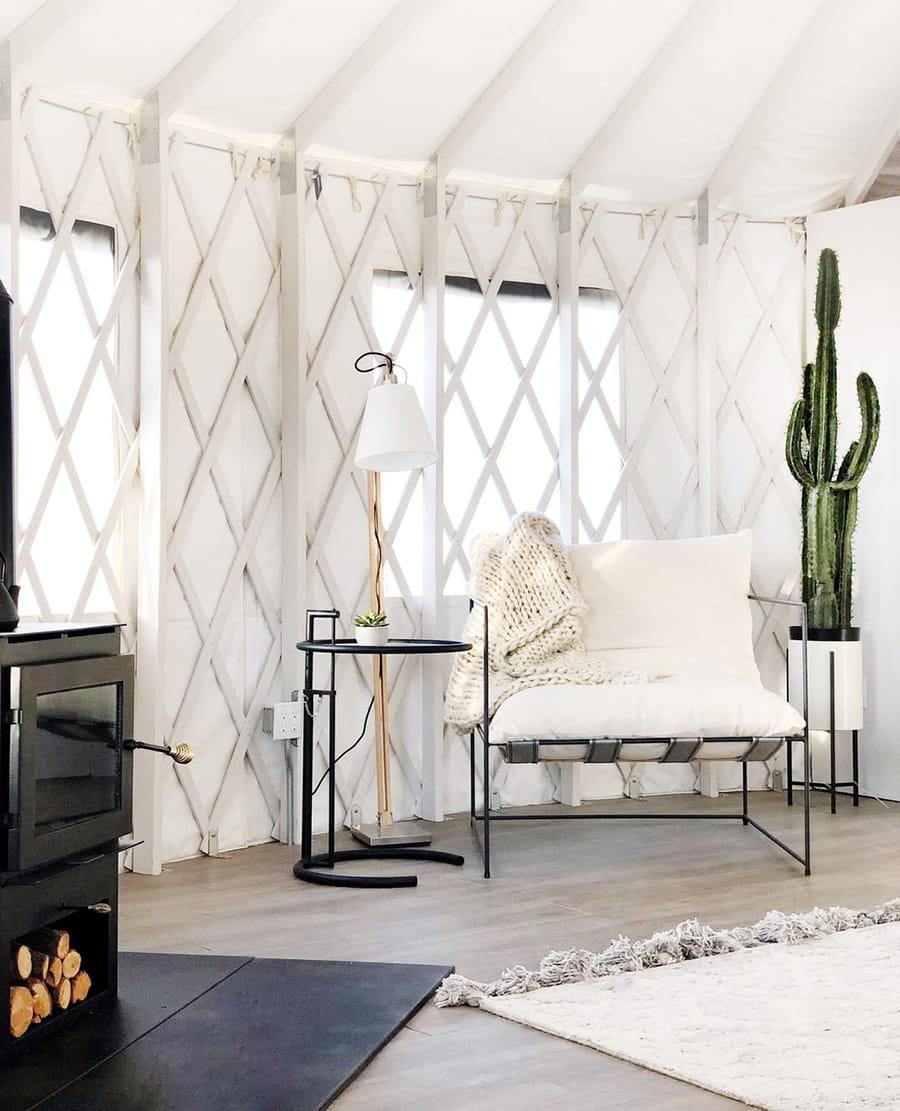 modern yurt livingroom