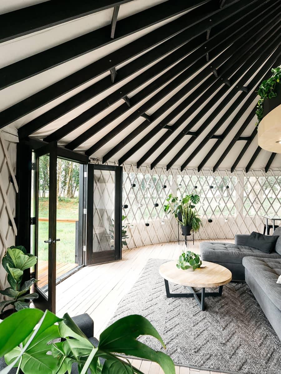 modern yurt entry