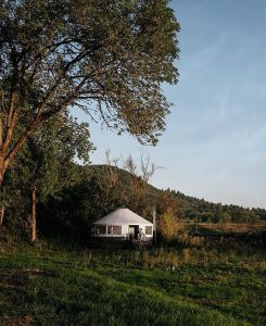 yurt in a meadow