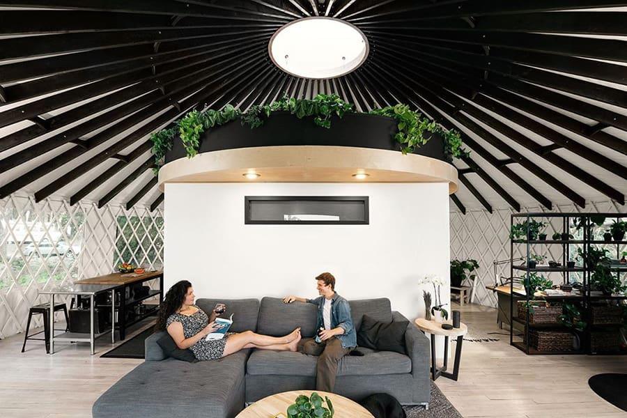yurt livingroom