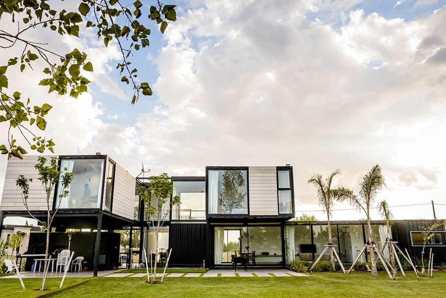 modern black house