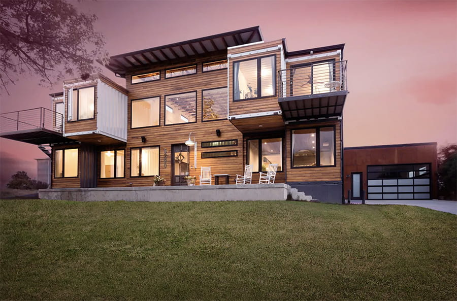 huge container home