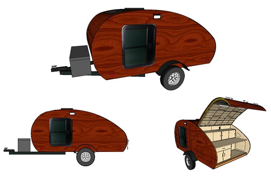 free teardrop camper plans