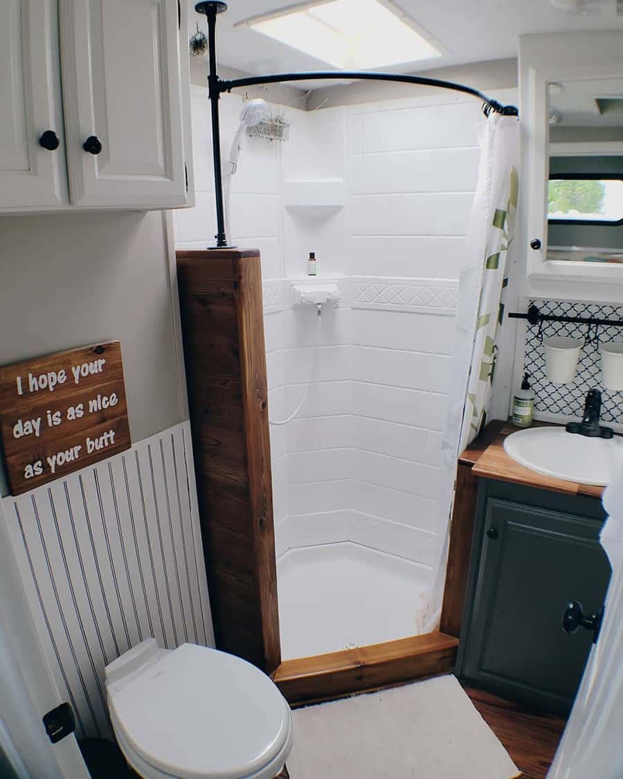 rv bathroom shower remodel