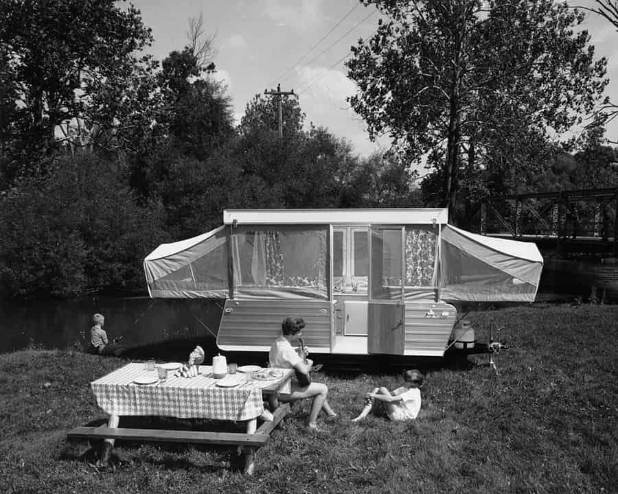 pop up tent history