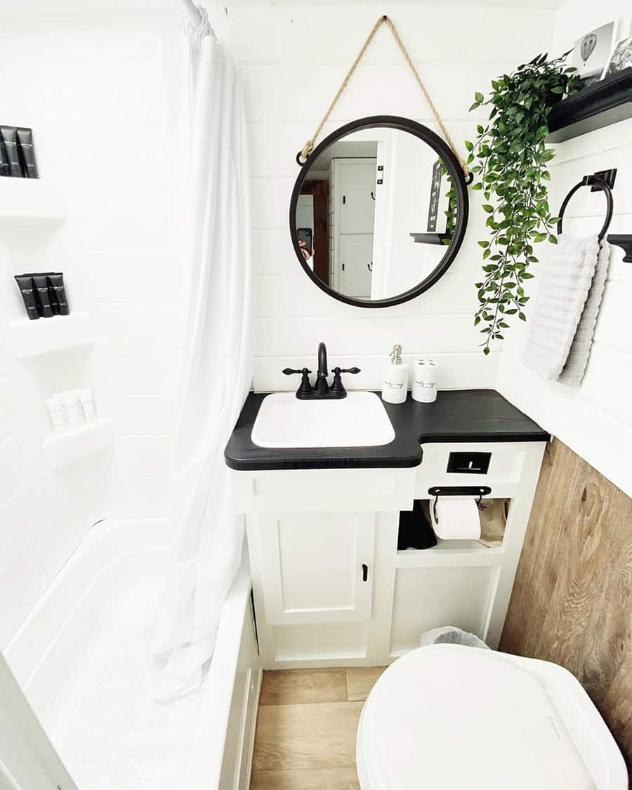 rv bathroom ideas farmhouse