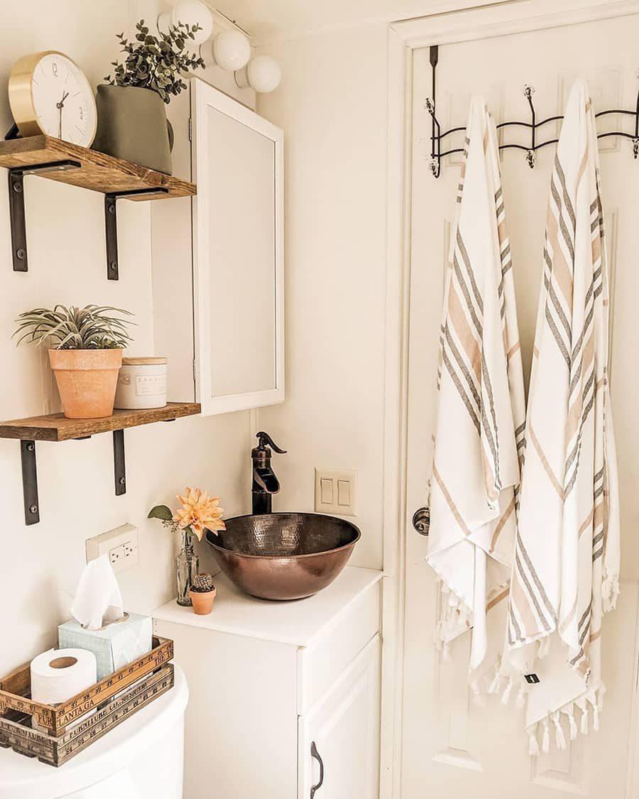 boho RV bathroom