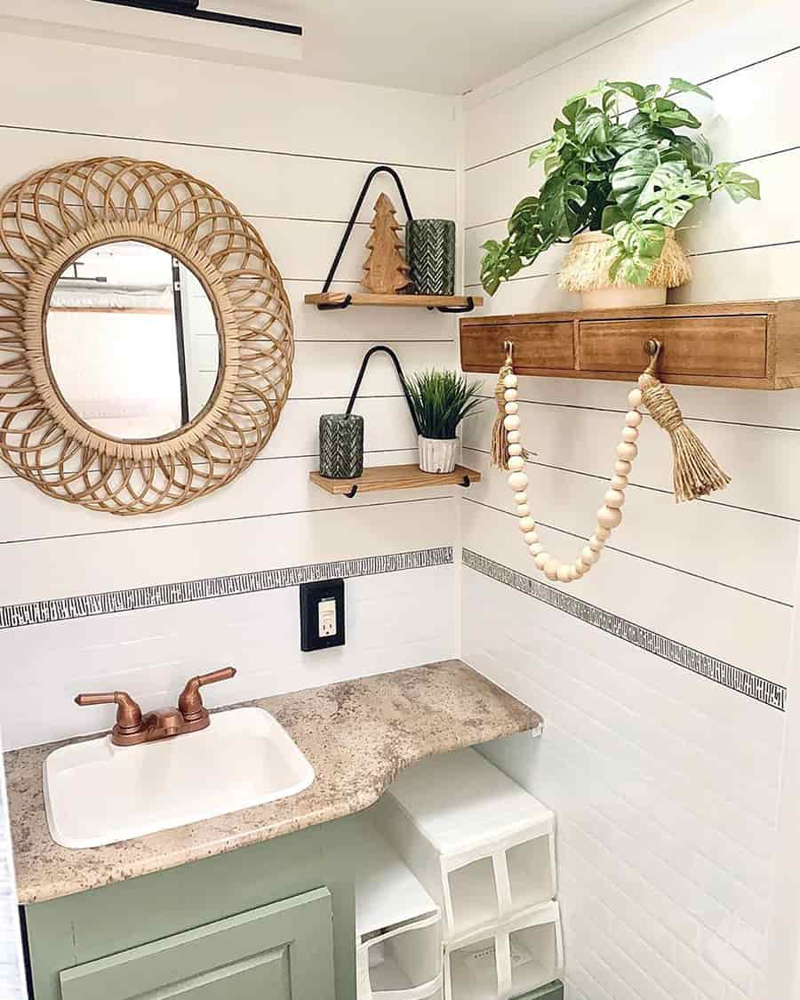 bathroom boho