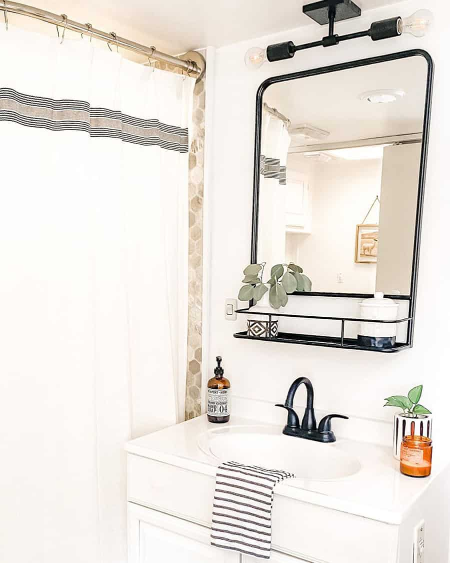 rv bathroom classic modern