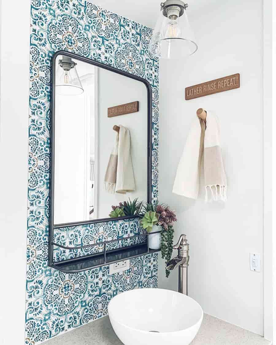 rv bathroom backplash wallpaper