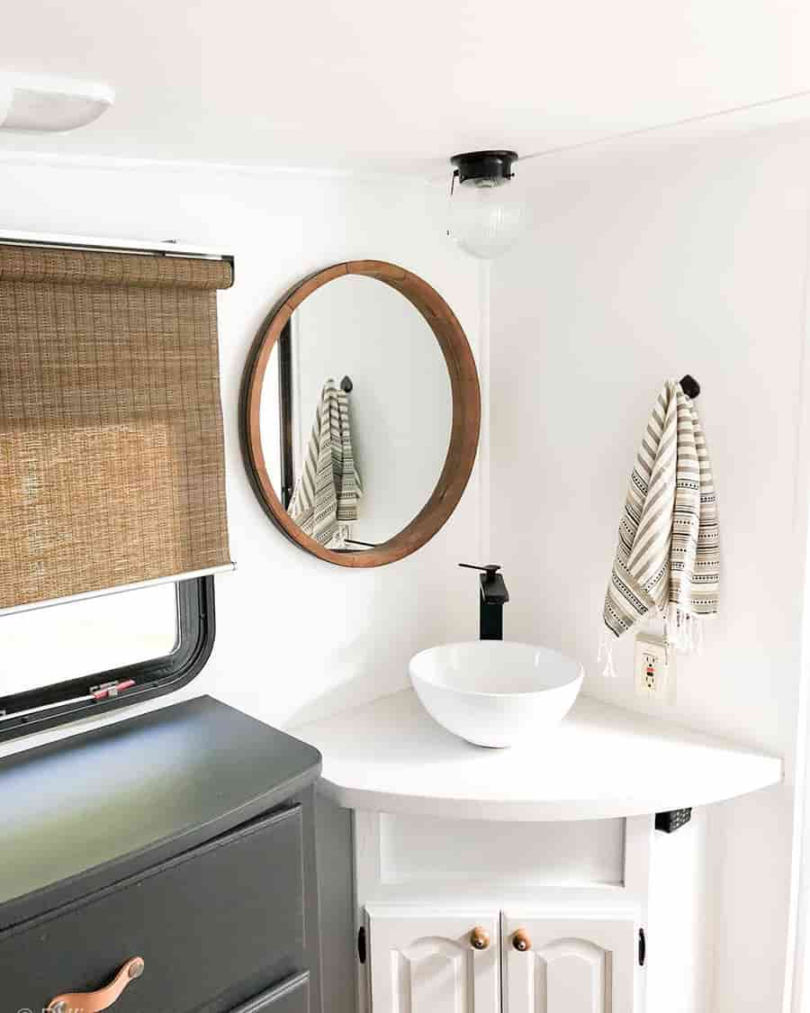 rv bathroom modern farmhouse