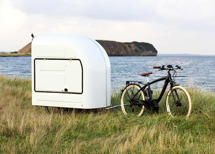 camper with bike