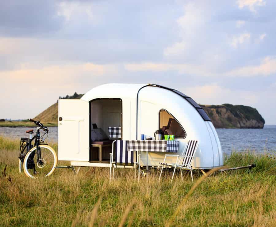 bicycle pulled camper