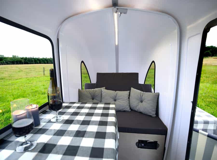interior of the camper