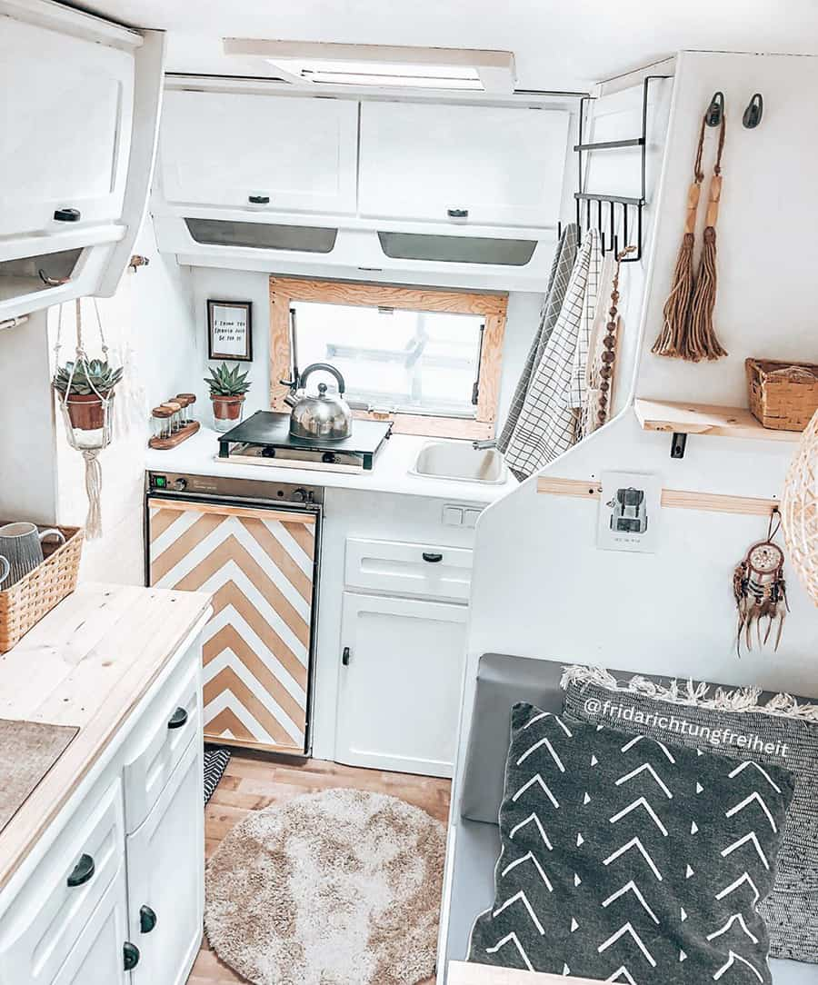 bohemian rv remodel kitchen