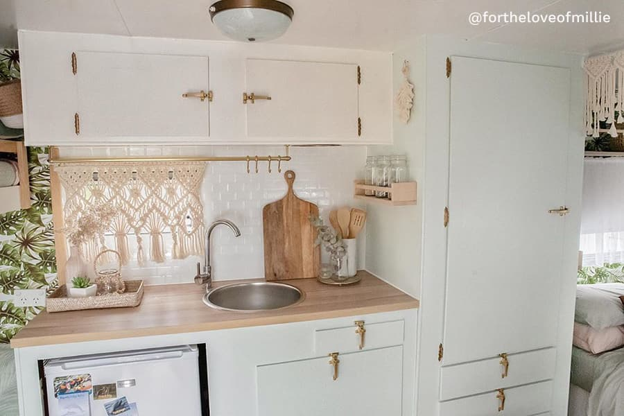 bohemian rv renovation kitchen