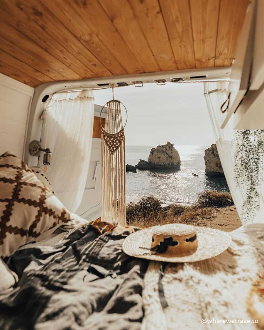 boho camper van travel