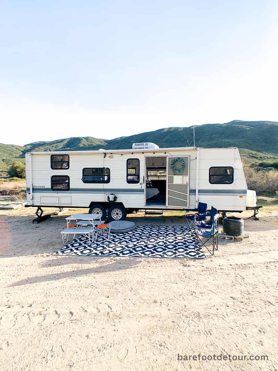 camper remodel outside