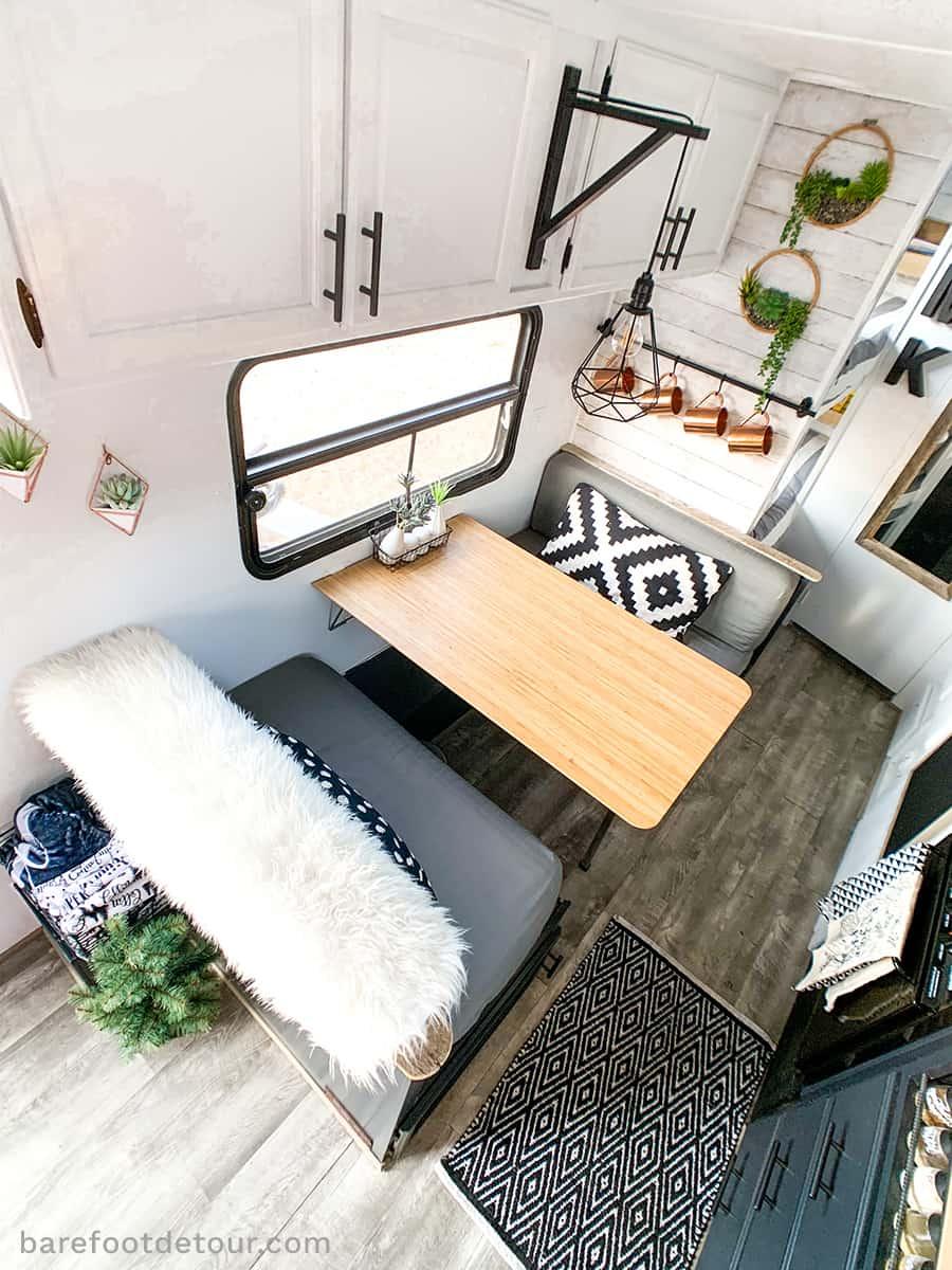 interior RV table reno