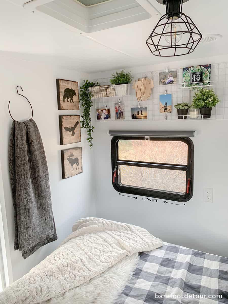 modern rv bedroom wall