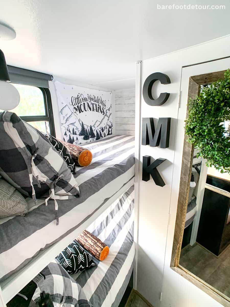 modern bunk beds camper