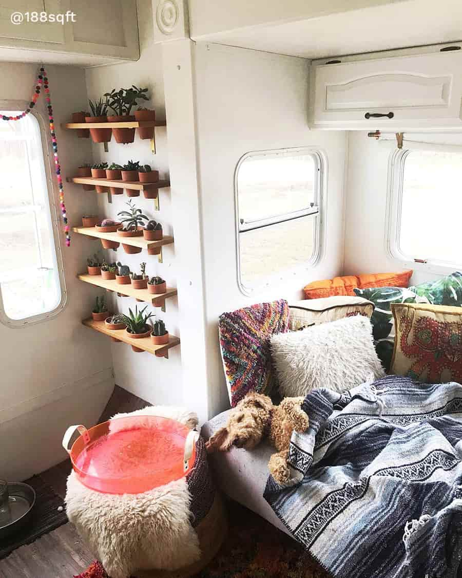 rv boho remodel couch