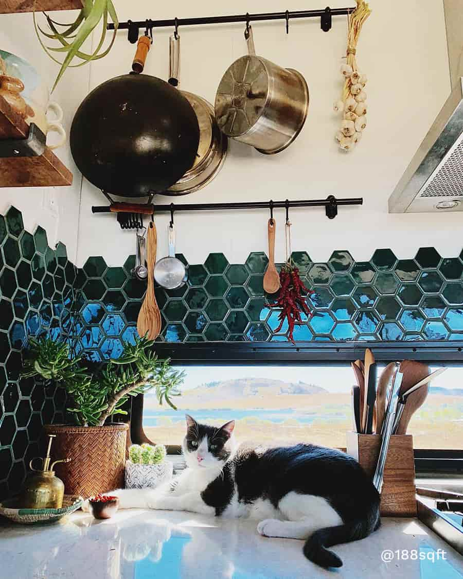 rv boho remodel kitchen