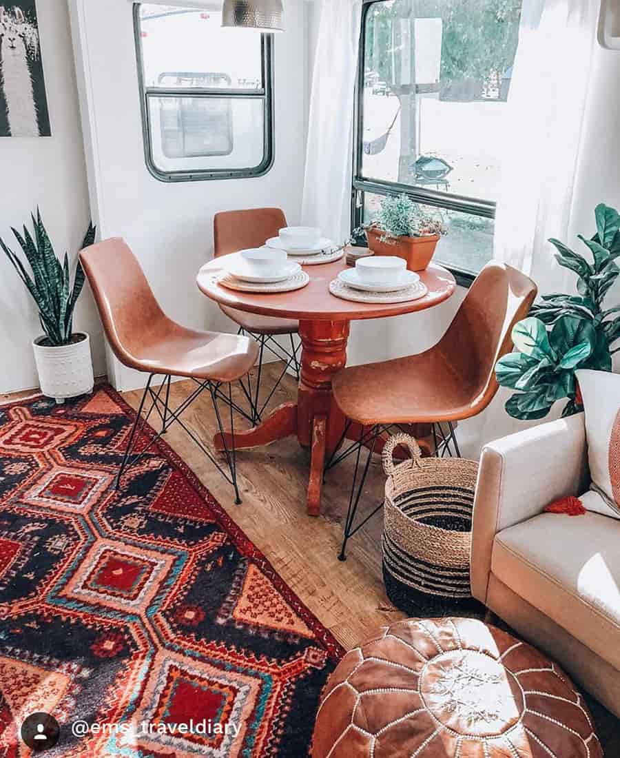 rv renovation boho dining room