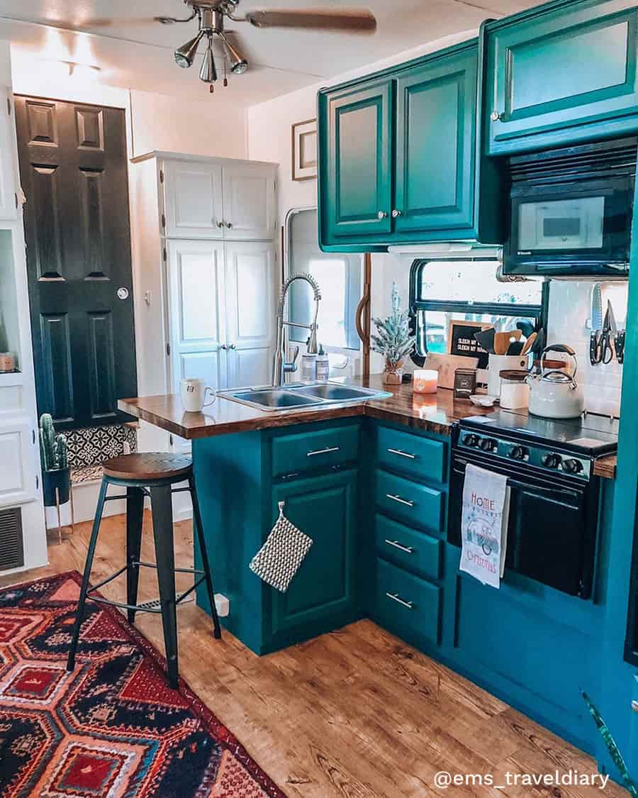 rv renovation boho kitchen