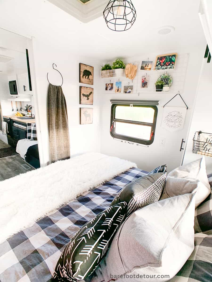 rv renovation master bedroom