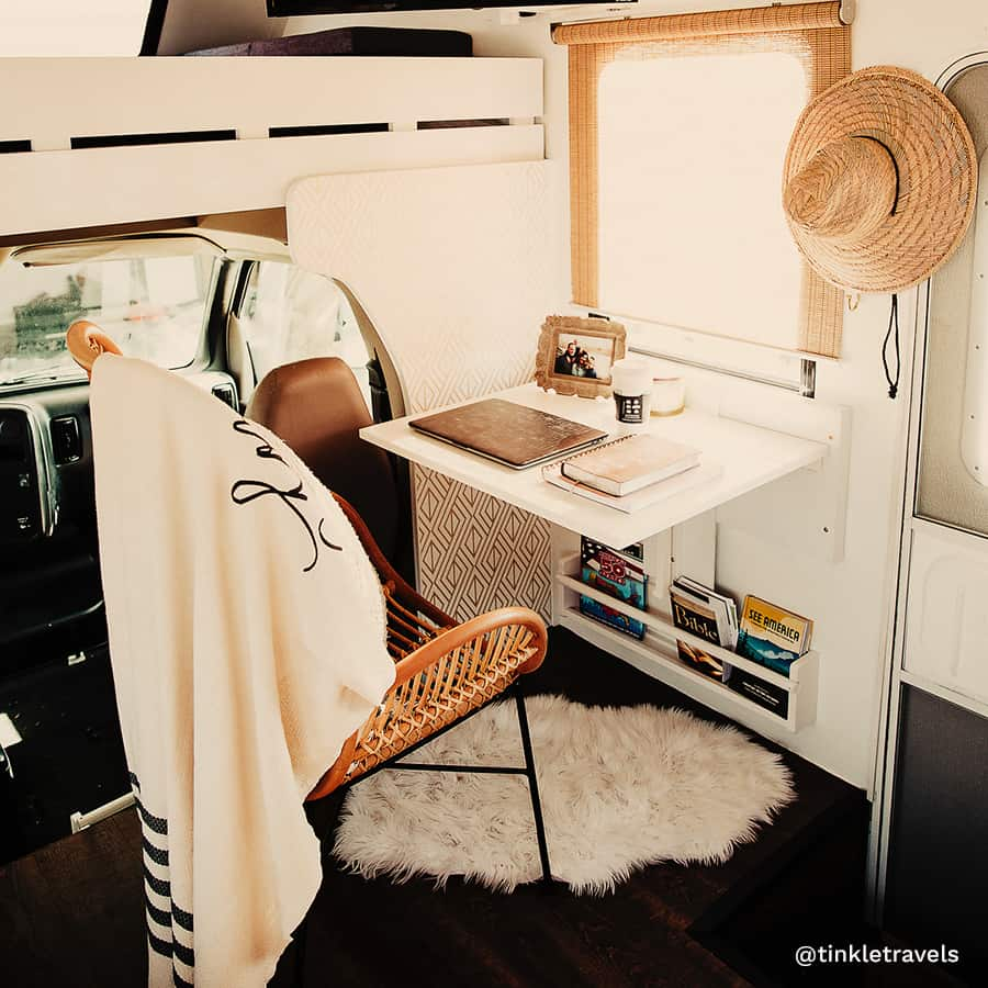 RV office collapsible desk
