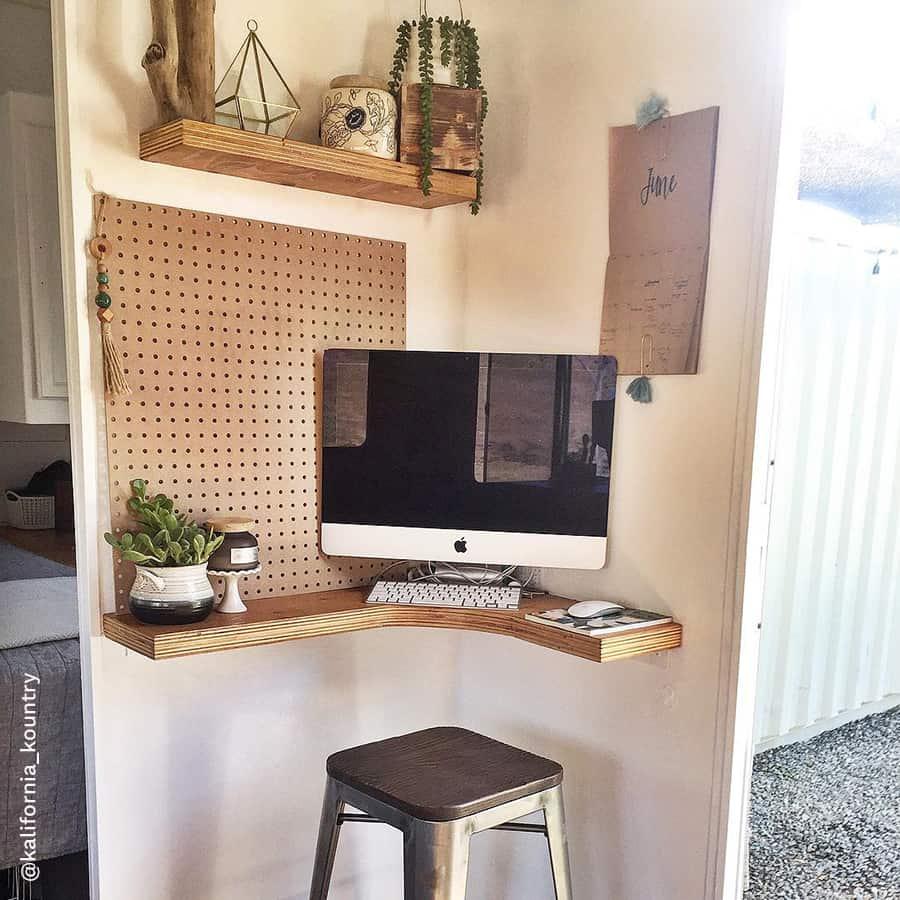 RV office corner desk