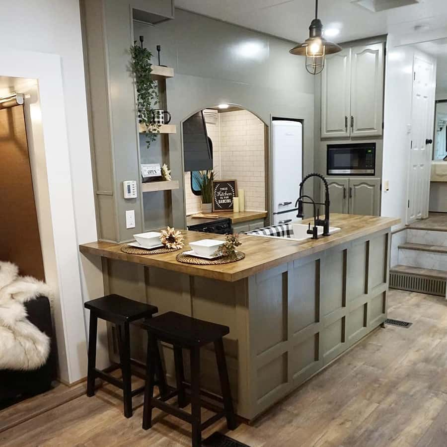 modern farmhouse camper